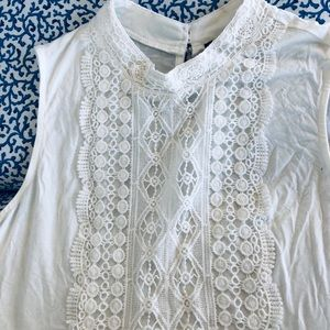 Sleeveless Chunky Lace Top